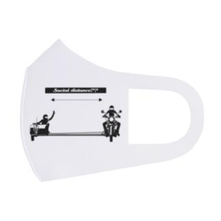 【バイク】ソーシャルディスタンス【サイドカー】 Full Graphic Mask