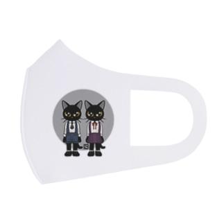 双子の猫 Full Graphic Mask