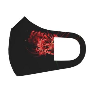 漆黒と彼岸花 Full Graphic Mask