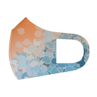 ちまき茶屋のひとかたまりの紫陽花 Full Graphic Mask