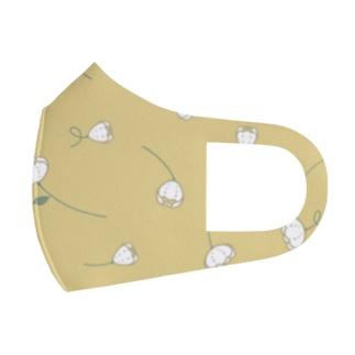 黄色とお花 Full Graphic Mask