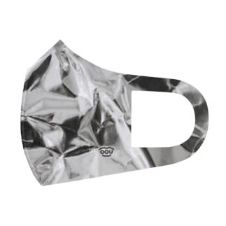 くしゃくしゃのアルミホイルマスク Full Graphic Mask
