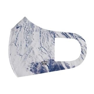 富士山のてっぺんの雪マスク Full Graphic Mask