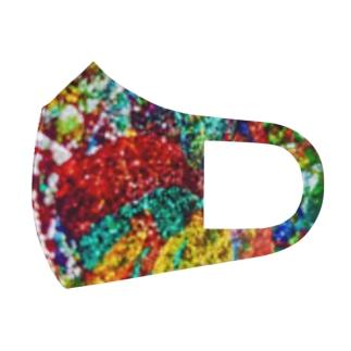 絵画の花 Full Graphic Mask