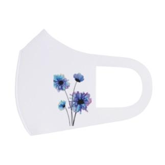 さいさんの青い花 Full Graphic Mask