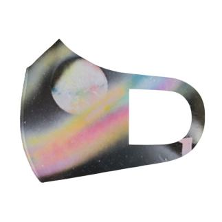小さな宇宙工房おっちーの【Pastel planet〜original spray art〜】 Full Graphic Mask