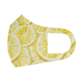 レモン輪切り Full Graphic Mask