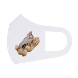 【D】ピーナッツ・大粒(L) Full Graphic Mask