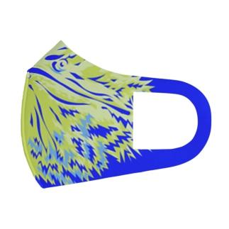 フトアゴイエロー Full Graphic Mask