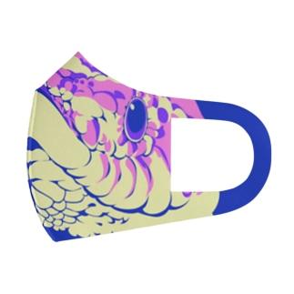 シシバナヘビピンクパステル Full Graphic Mask