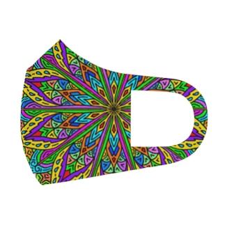 V_Flower Full Graphic Mask