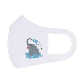 水浴びゾウさん Full Graphic Mask