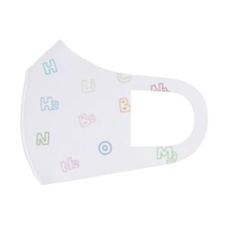 すいへーりーべー(カラフル) Full Graphic Mask