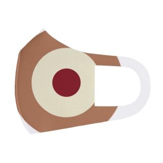 サークルa・カフェオレ・クリーム・チョコ Full Graphic Mask