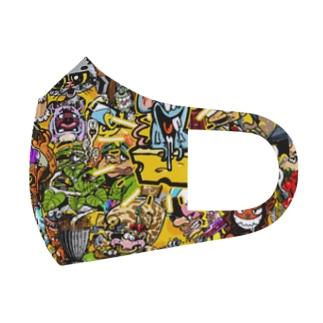 もりもりカートゥーン Full Graphic Mask