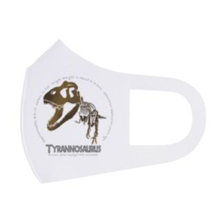 ティラノサウルス全身骨格シルエット Full Graphic Mask