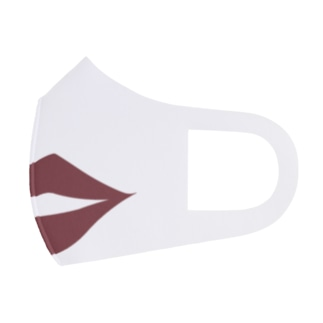 セクシー唇マスク(ブラウン) Full Graphic Mask