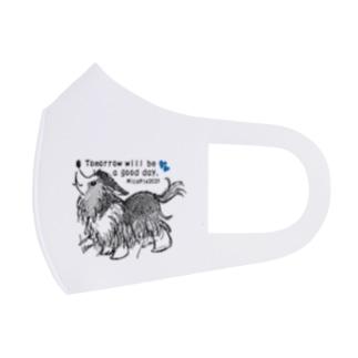 ブルーハートのマスク(シェルティ) Full Graphic Mask