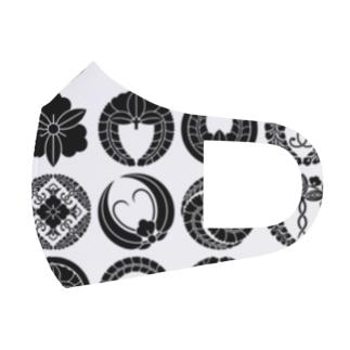 家紋色々 Full Graphic Mask