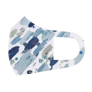 ペイント ブルー Full Graphic Mask