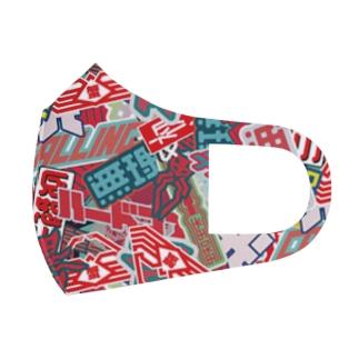 ステッカーボム Full Graphic Mask