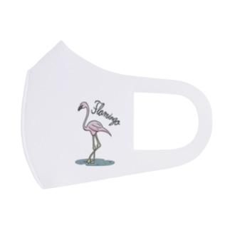 フラミンゴ Full Graphic Mask
