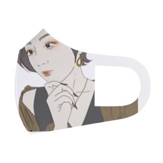 黄色なウルフ Full Graphic Mask