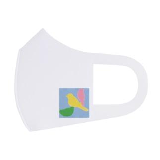 bird シルエット Full Graphic Mask