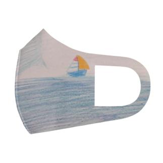 海とヨットドリーム Full Graphic Mask