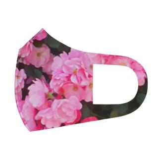 ピンクの薔薇いっぱい Full Graphic Mask