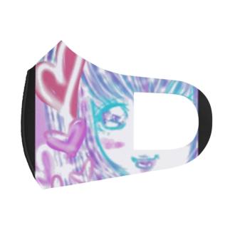 かわゆす♥️ハート女子ちゃん Full Graphic Mask