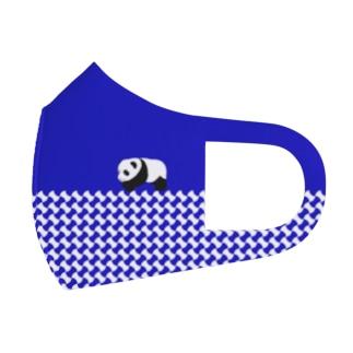 パンダちゃん(ブルー) Full Graphic Mask