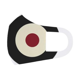 サークルa・黒・クリーム・チョコ Full Graphic Mask