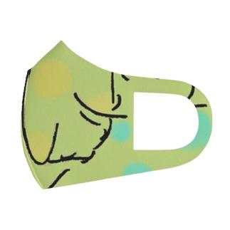 月とネコ Full Graphic Mask