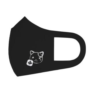 はぴニャンマスク(黒) Full Graphic Mask