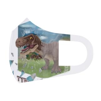 ティラノサウルス Full Graphic Mask