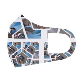 XL文鳥 プール水浴び記念コラージュ Full Graphic Mask