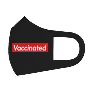 ワクチン接種済 (Vaccinated) 黒背景 Full Graphic Mask