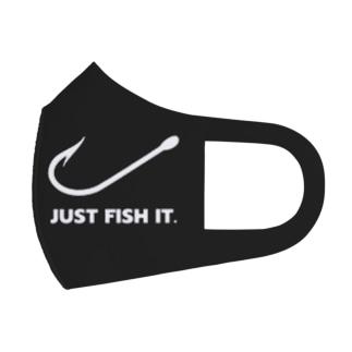 JUST FISH IT (白) Full Graphic Mask