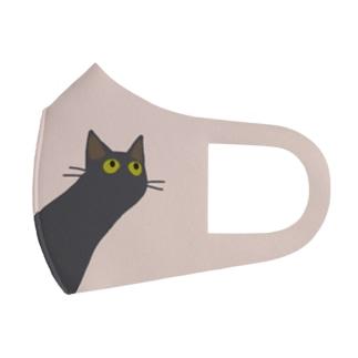 伸びるネコ Full Graphic Mask