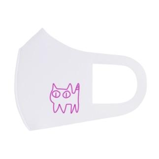 ねこですから。ピンク Full Graphic Mask