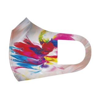 カラフル_マスク_001 Full Graphic Mask