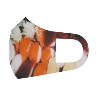お盆のお寿司 Full Graphic Mask
