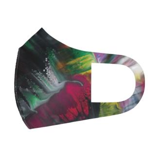 色彩の羽根 2021_003 Full Graphic Mask