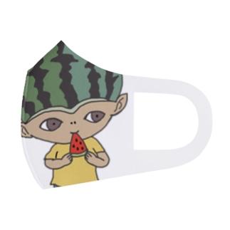 mio_urakamiのスイカボーイ Full Graphic Mask