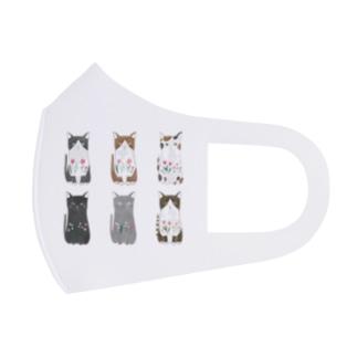 6匹の猫ちゃん Full Graphic Mask