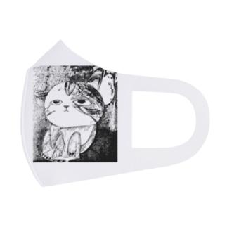 なんとも言えない表情の子猫ちゃん Full Graphic Mask