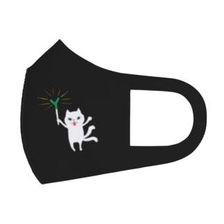 おばけマスク<ネギを信仰する猫又> Full Graphic Mask