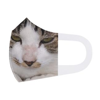 外猫サバたん Face Mask
