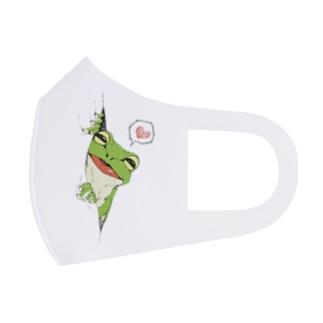 ちらっと蛙 Full Graphic Mask